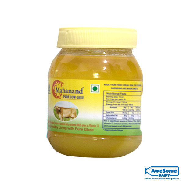 Mahanand-Pure-Cow-Ghee-500ml-Jar-Awesome-dairy