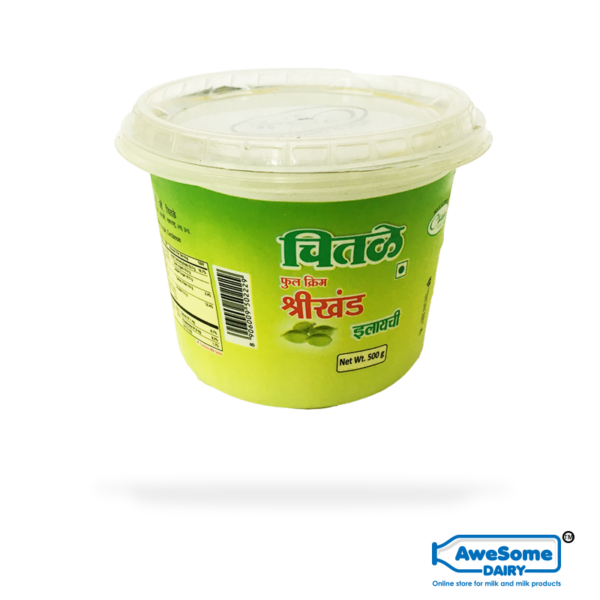 Chital Elaichi Shrikhand 500gm Full Cream Online on Awesome Dairy