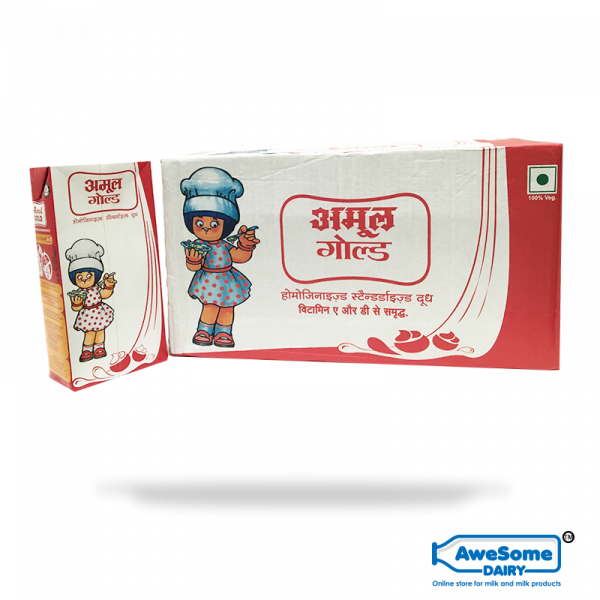 Amul Gold Bulk milk - 1 Litre 12pcs online on Awesome Dairy in Mumbai
