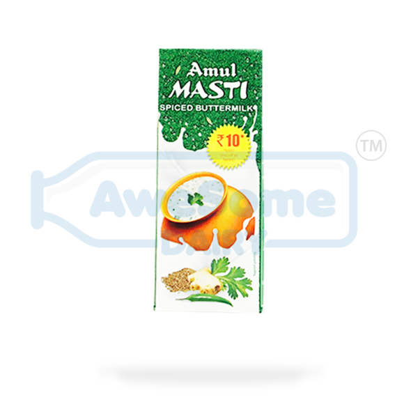 amul buttermilk price, amul buttermilk,Amul - Masti Spiced Butter Milk 200ml - 5 Packets Online On Awesome Dairy | Mumbai