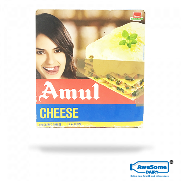 Amul block of cheese 1kg Online - Awesome Dairy