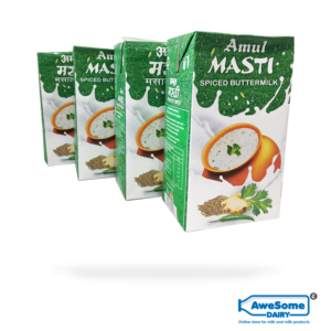 Amul Masti Spiced - Butter Milk 1litre- 4 Packets Buy Online on AWesome Dairy