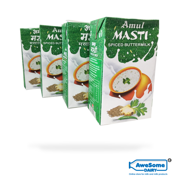 amul buttermilk price, amul buttermilk,Amul Masti Spiced - Butter Milk 1litre- 4 Packets Buy Online on AWesome Dairy, where to buy buttermilk, buttermilk india, amul butter milk price, amul butter milk online, buttermilk brands, amul buttermilk 500ml price, amul chach price, buttermilk, amul buttermilk pouch price