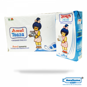Amul Taaza Milk – Buy Bulk 12 Piece of 1 litre online on Awesome Dairy in Mumbai