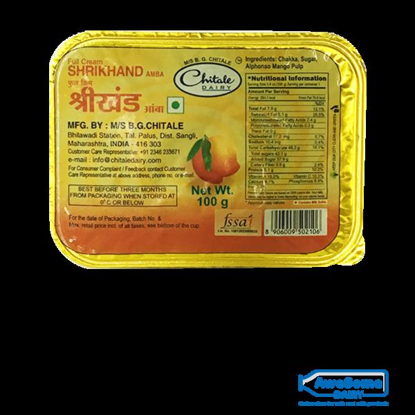 Chitale Mango Shrikhand ( Amba) 100gm Online On Awesome Dairy