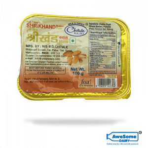 Chitale Badam Full Cream Shrikhand 100gm Buy Online on Awesome Dairy