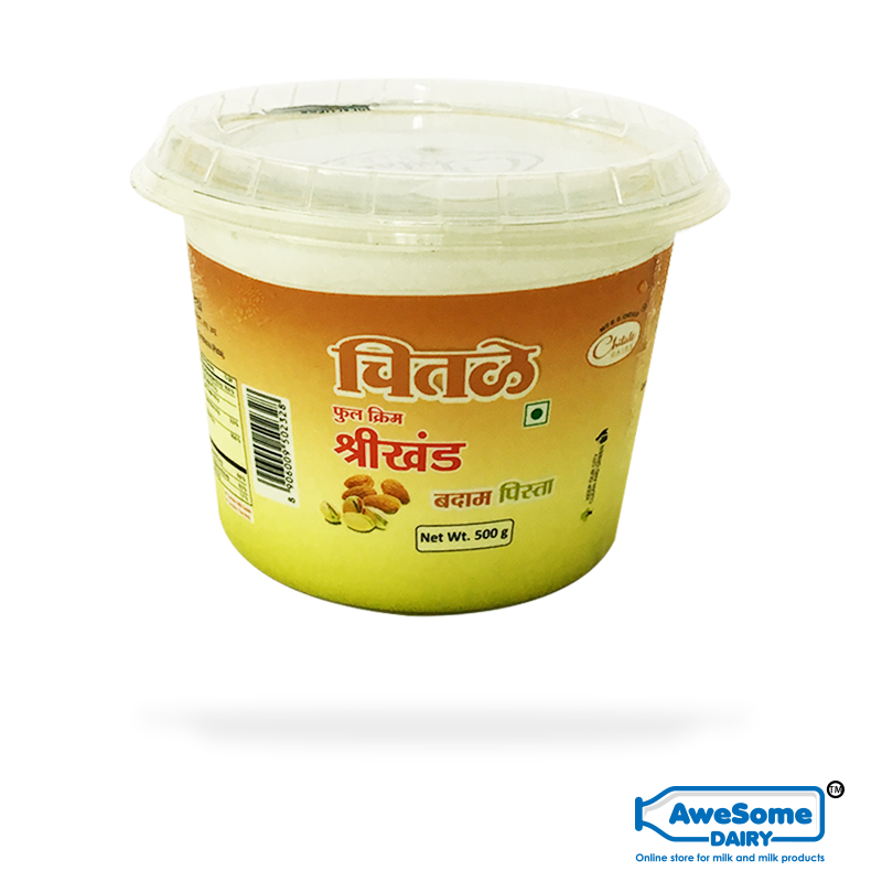 Chitale Pista Shrikhand 500gm - Buy Online on Awesome Dairy