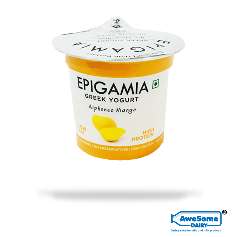 greek yogurt, Mango Yoghurt Epigamia - 12pcs Buy Greek Yoghurt Online | Awesome Dairy,buy yogurt, yogurt online shopping,greek yogurt india