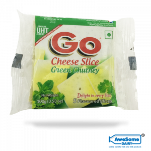 go cheese, Go Cheese - Green Chutney ,buy mozzarella cheeseslice 100g Online,mozzarella cheese online,price of mozzarella cheese, cost of mozzarella cheese, pizza cheese india
