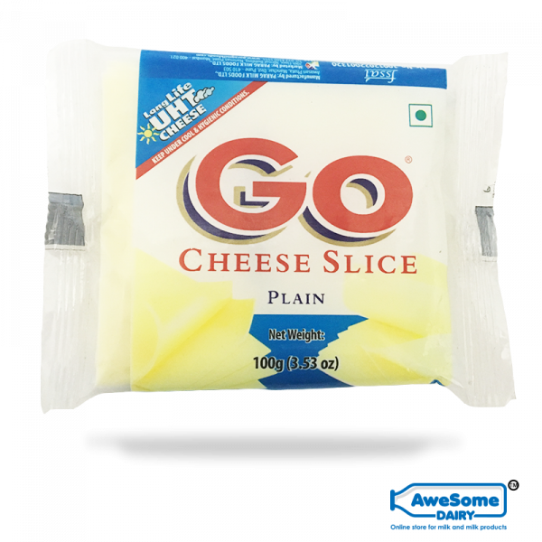 amul cheese slice, go cheese, Cheese Slices - Go plain cheese 100gm Online on Awesome Dairy,mozzarella cheese online,buy mozzarella cheese