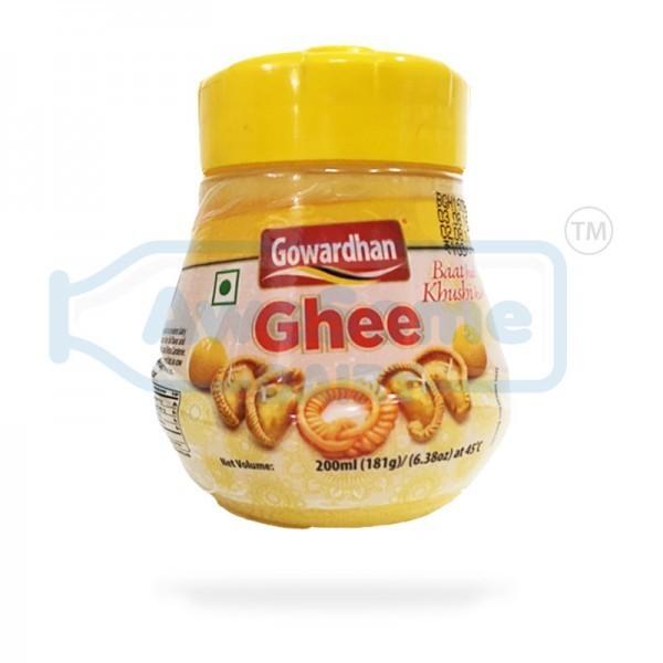 Gowardhan Cow Ghee 200ml Jar - Awesome Dairy