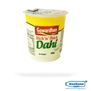 thick curd, Dahi (Curd) - 400gm Gowardhan Dahi (Curd) Online on Awesome Dairy