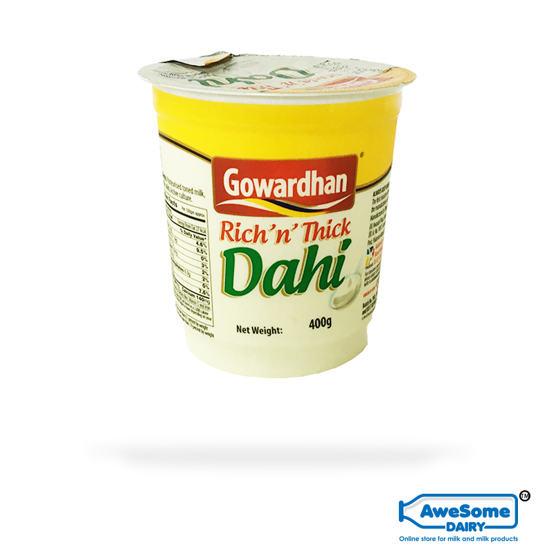 thick curd, Dahi (Curd) - 400gm Gowardhan Dahi (Curd) Online on Awesome Dairy, where can you buy curd, greek yogurt india, curd packets, curd price, 1 kg curd price, curd products, curd packets, curd packet, curds, vijaya curd bucket price, cow curd, heritage curd bucket price, low fat dahi, curd bucket, milk curd, verka curd, curd brands in india, madhusudan dahi, low fat curd, curd milk, gowardhan-rich-n-thick-dahi