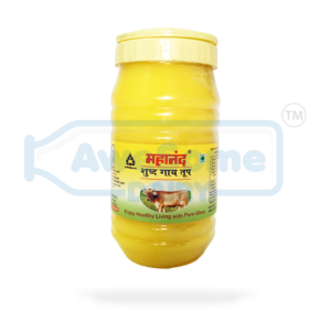 Ghee - Mahanand Pure Cow Ghee 1 liter Jar on Awesome Dairy