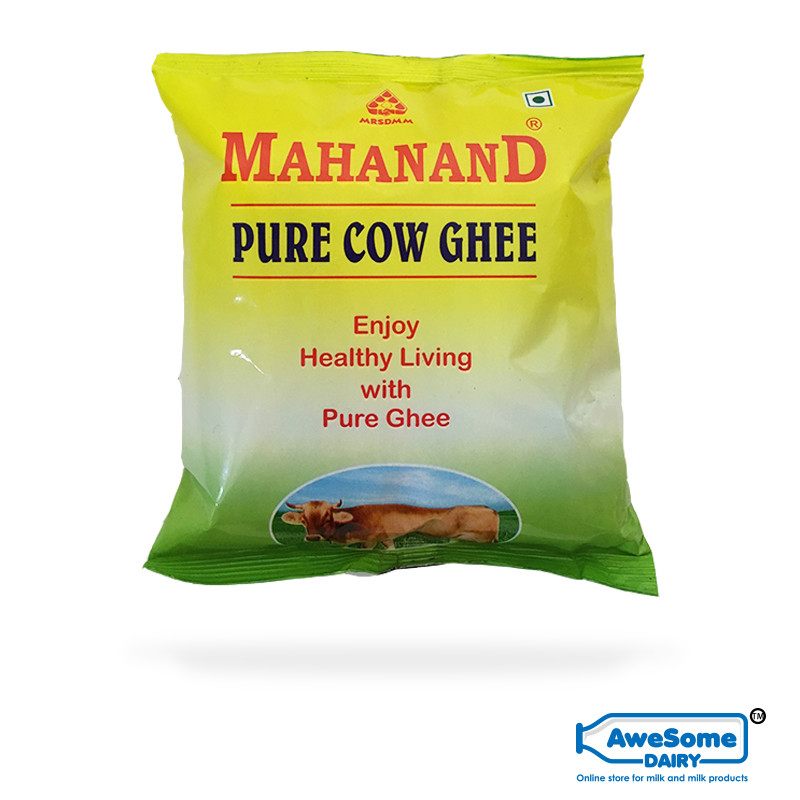 ghee,Shop Pure Cow Ghee 500ml - Online Mahanand Pouch on Awesome Dairy, mahanand-pure-cow-ghee