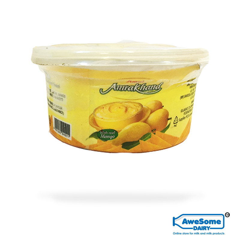 Amul Amrakhand 200g - Mango Shrikhand Buy Online On Awesome Dairy,amul-amrakhand