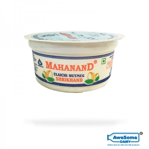 Elaichi Shrikhand 100ml Online - Mahanand Only on Awesome Dairy | Mumbai