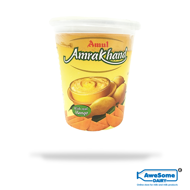 Amrakhand 500g - Amul Mango Shrikhand Buy Online On Awesome Dairy | Mumbai