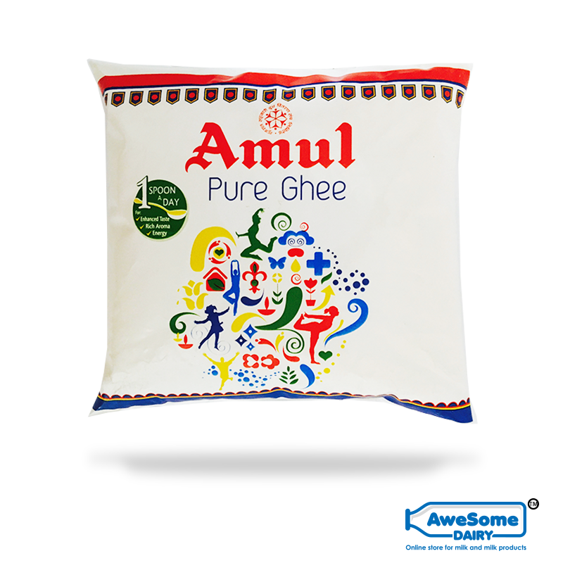 amul ghee price, Amul ghee online,amul ghee prise,Amul ghee, Pure Cow Ghee Online - 500ml Amul Ghee Pouch on Awesome Dairy