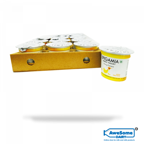 greek yogurt,yogurt online,Bulk Epigamia Yoghurt - 12pcs Honey Banana Greek yogurt Online Mumbai | Awesomedairy.com,buy yogurt, yogurt online shopping,greek yogurt india