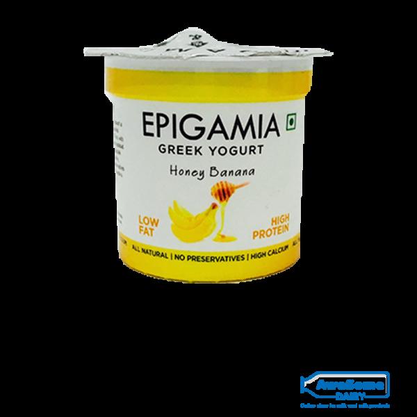 greek yogurt, Epigamia Yoghurt - Honey Banana 90gm Online In Mumbai,buy yogurt, yogurt online shopping,greek yogurt india