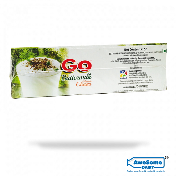 Go - Bulk Masala Chaas / Buttermilk 1litre Online | Awesome Dairy