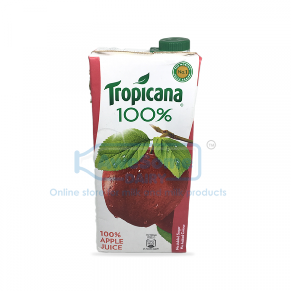 1 litre Tropicana 100% Apple Juice - Online on Awesome Dairy