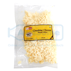 Nutoras-Cheddar-cheese-small-cubes-200gm_front-Awesomedairy