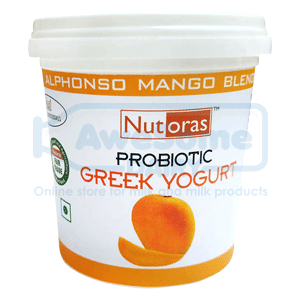 greek yogurt,Nutoras-mango-greek--yogurt-125gm_top-Awesomedairy,buy yogurt,yogurt online shopping,greek yogurt india